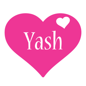 Yash love-heart logo