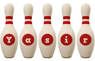 Yasir bowling-pin logo