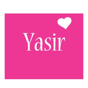 Yasir love-heart logo
