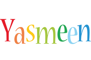 Yasmeen birthday logo