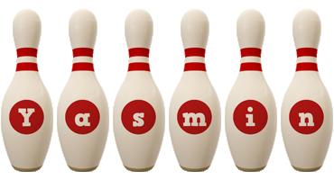 Yasmin bowling-pin logo