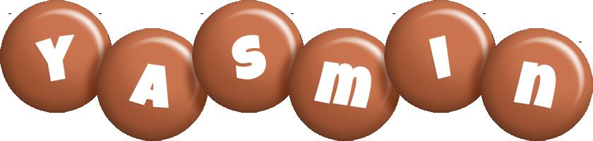 Yasmin candy-brown logo