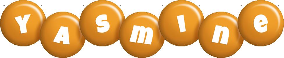 Yasmine candy-orange logo