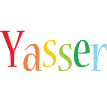 Yasser birthday logo