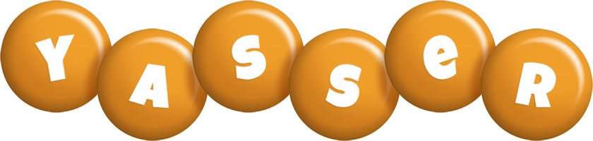 Yasser candy-orange logo