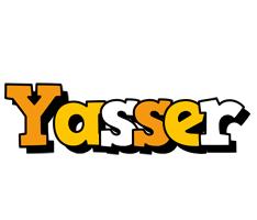 Yasser cartoon logo