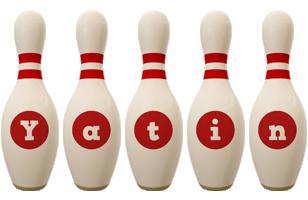 Yatin bowling-pin logo
