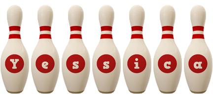 Yessica bowling-pin logo