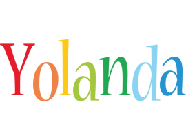 Yolanda birthday logo