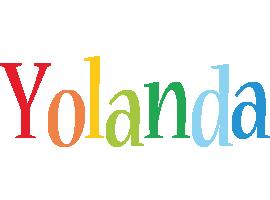 Yolanda birthday logo