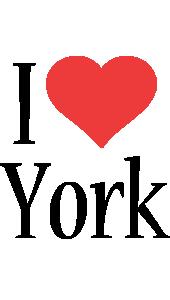 York i-love logo