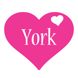 York love-heart logo