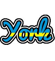 York sweden logo