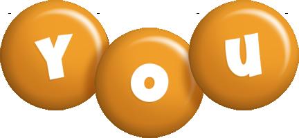 You candy-orange logo