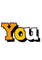 You cartoon logo