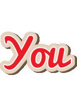 You chocolate logo