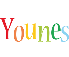 Younes birthday logo