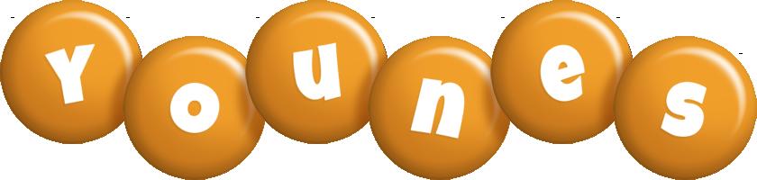 Younes candy-orange logo