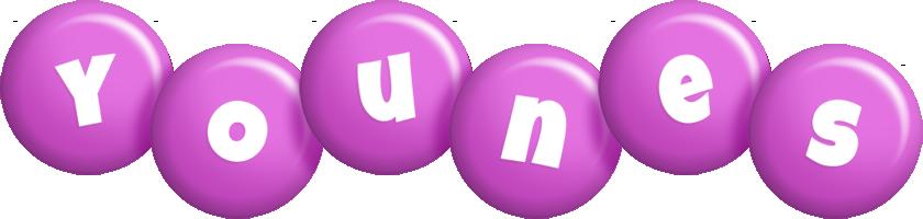 Younes candy-purple logo