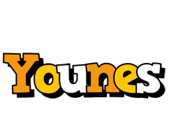 Younes cartoon logo