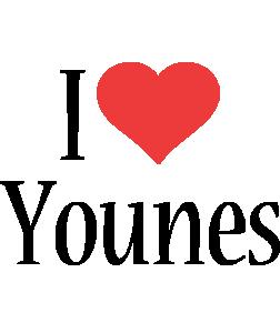 Younes i-love logo