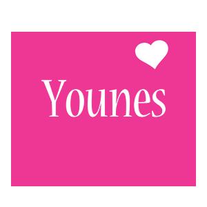 Younes love-heart logo
