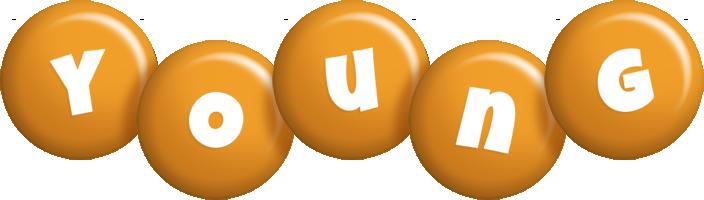 Young candy-orange logo