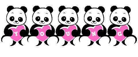 Young love-panda logo