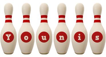 Younis bowling-pin logo