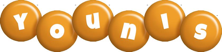 Younis candy-orange logo