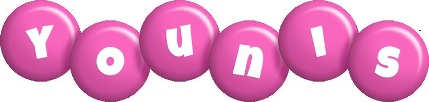 Younis candy-pink logo
