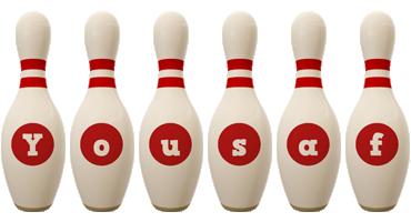 Yousaf bowling-pin logo