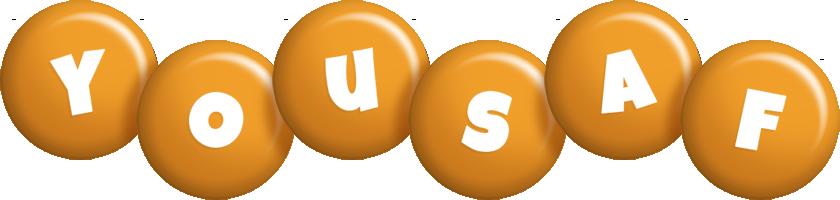 Yousaf candy-orange logo