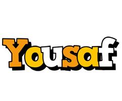 Yousaf cartoon logo