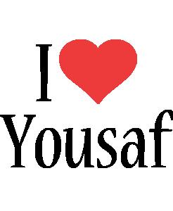 Yousaf i-love logo