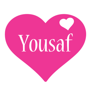 Yousaf love-heart logo