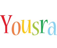 Yousra birthday logo