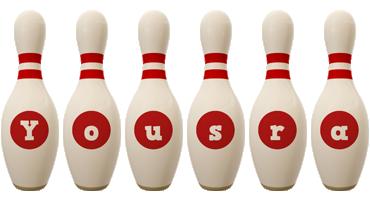 Yousra bowling-pin logo