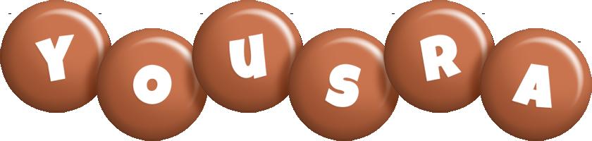 Yousra candy-brown logo