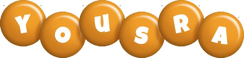 Yousra candy-orange logo