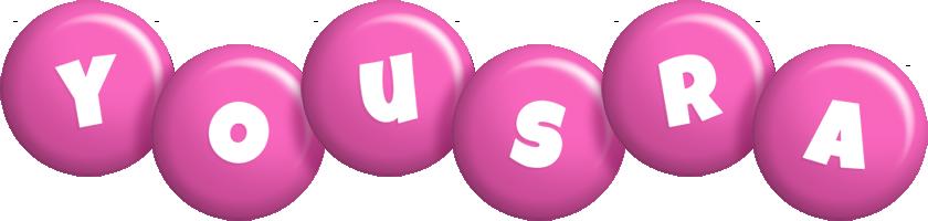 Yousra candy-pink logo