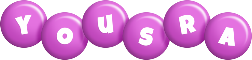 Yousra candy-purple logo