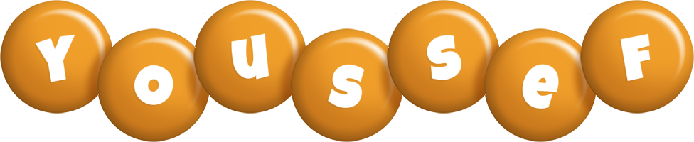 Youssef candy-orange logo