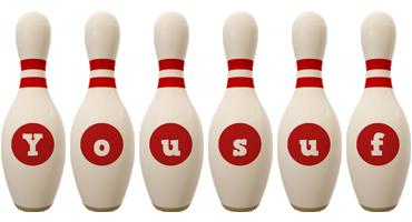 Yousuf bowling-pin logo