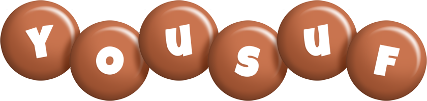 Yousuf candy-brown logo