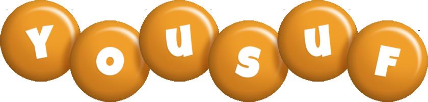 Yousuf candy-orange logo