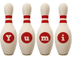 Yumi bowling-pin logo
