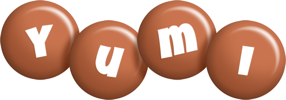 Yumi candy-brown logo