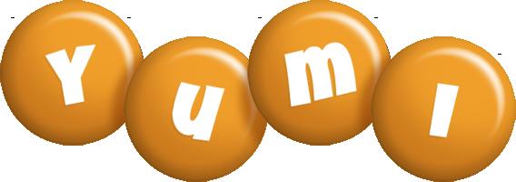 Yumi candy-orange logo