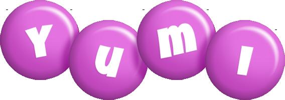 Yumi candy-purple logo